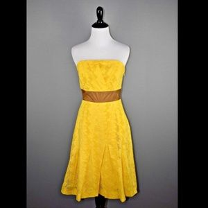 Tracy Reese New Yellow Eyelet Dress